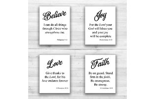 Religious Quotes Wall Art - 8